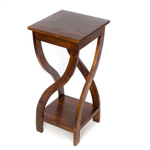 Tall Teak Twist Table