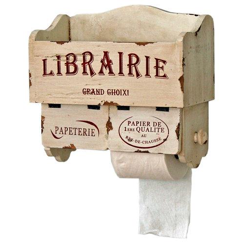 """Vintage """"Librairie"""" Toilet Roll Holder/Book/Magazine storage"""