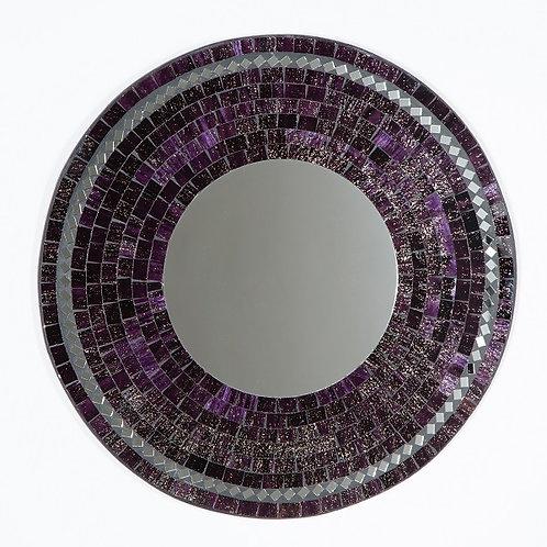 Purple Mosaic Mirror-40cm