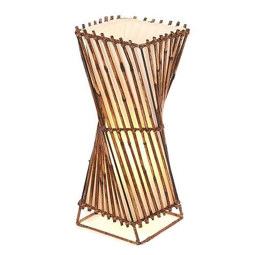 Rattan Twist Floor Lamp - 50cm