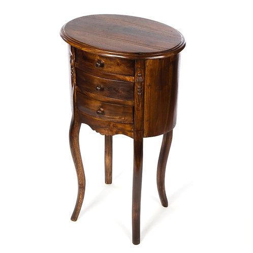 Teak 3 Drawer Table