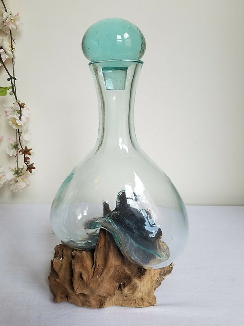 Melted Glass Wine Decanter