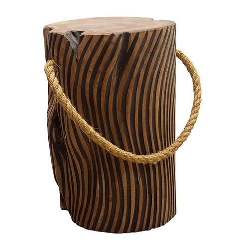 Teak Root Striped Table