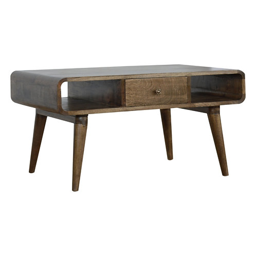 Grey Washed 2 Drw Coffee Table
