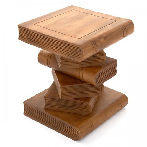 Small Book Table-Waxed