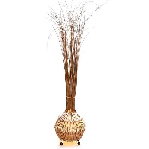 Onion grass floor lamp/white & gold