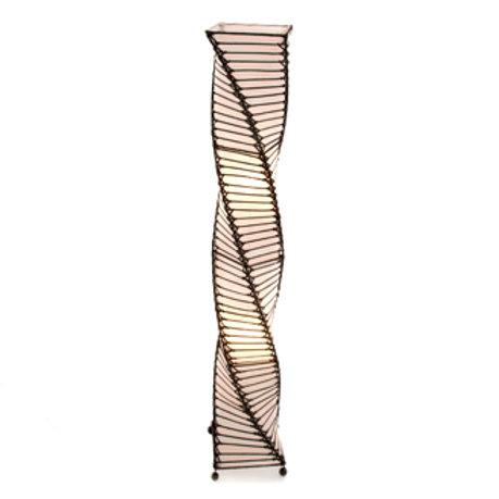 Twisted Wicker & Rattan Floor Lamp