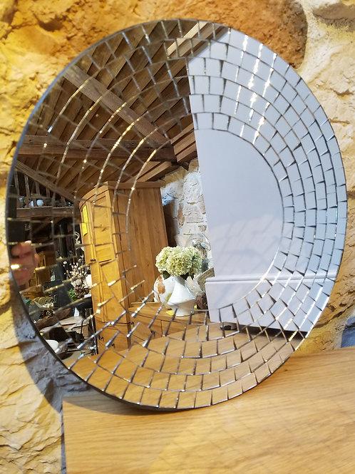 Silver Mosaic Mirror-40cm