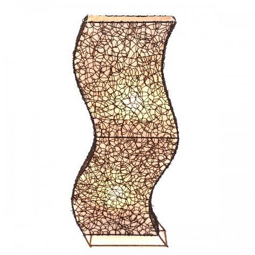 """Rattan & Wicker """"Wiggle"""" Floor Lamp - 100cm"""