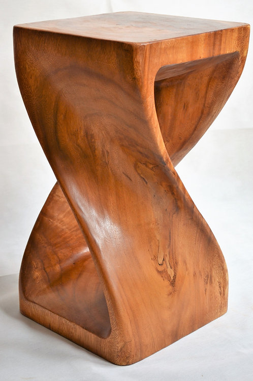 Twisted Side Table - Waxed