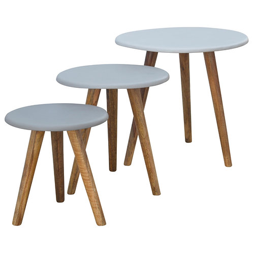 Nordic Style Nest Of Tables - Painted