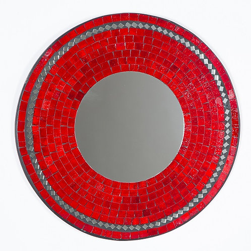 Red Jelly Mosaic Mirror-40cm