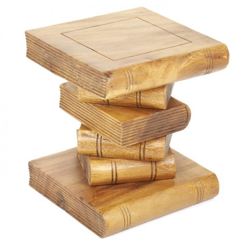 Small Stacked Book Side Table | Www.montpellierdecor.com