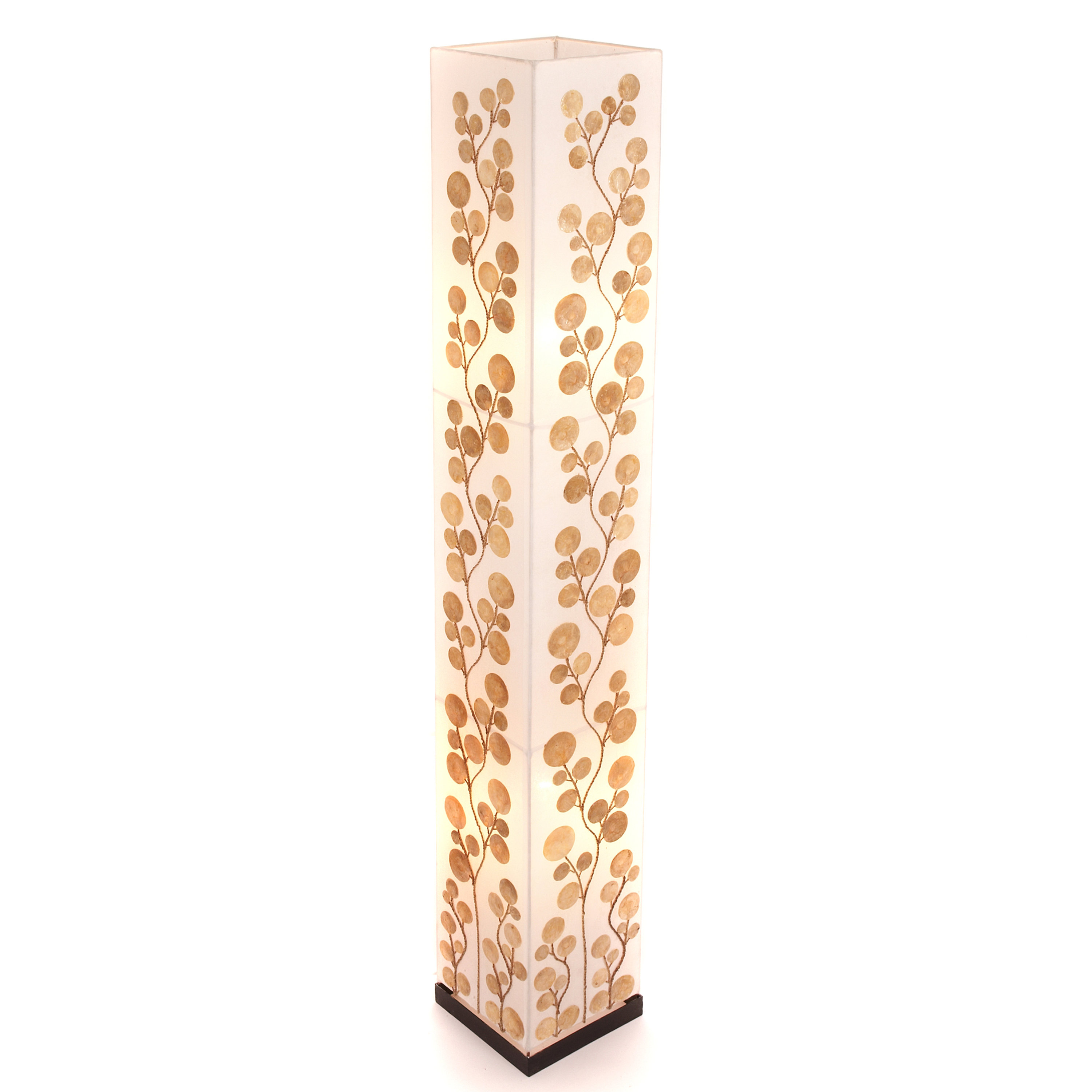 www.montpellierdecor.com | Gold Poppy Shell Floor Lamp