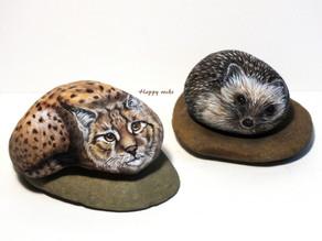 Lynx et hérisson