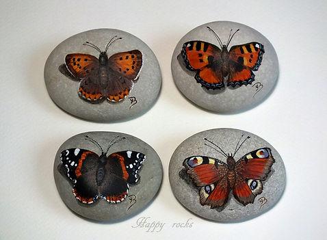 happy rocks, peinture sur galets, galets peints