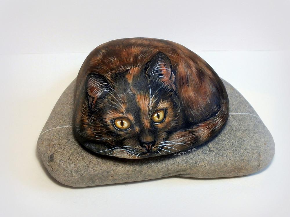 galet peint Happy rocks