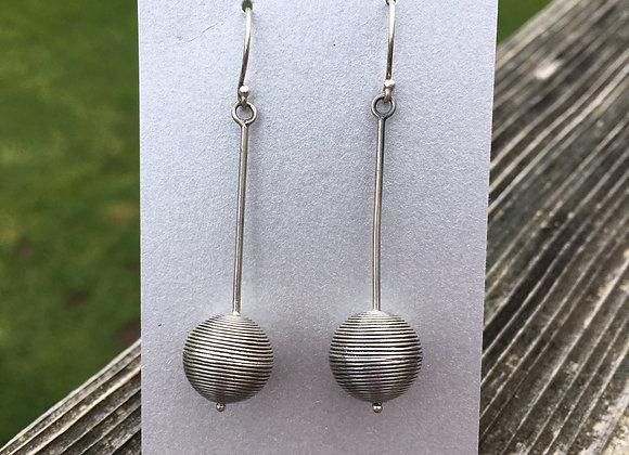 Long sphere earrings