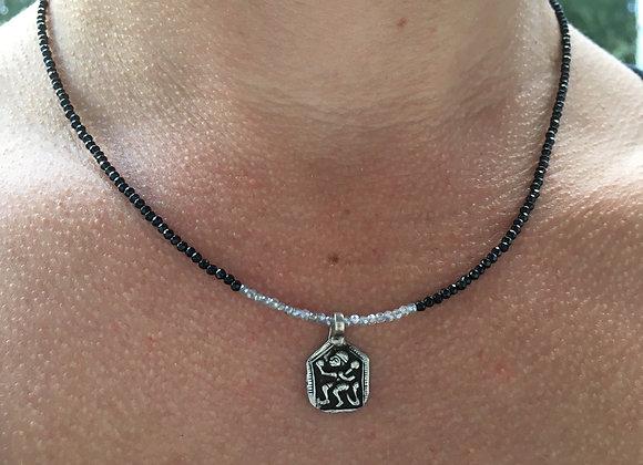 Antique Hanuman talisman necklace