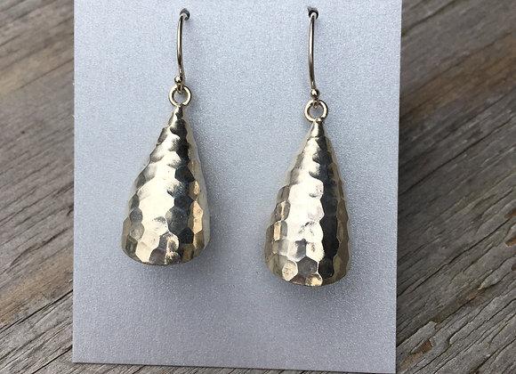 Hilltribe hammered bell shape earrings