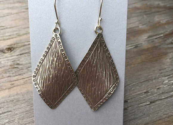 Hilltribe diamond textured earrings