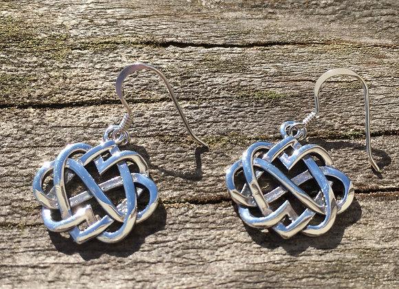 Eternity Celtic knot earrings