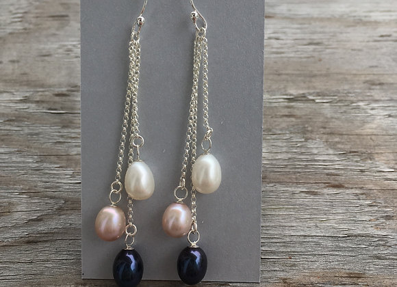 Mikel Grant pearl dangle earrings