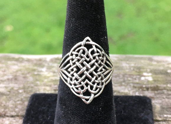 Intricate large Celtic ring