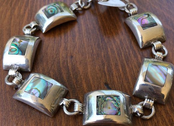 Bosco Bling Paua shell sterling silver Bracelet
