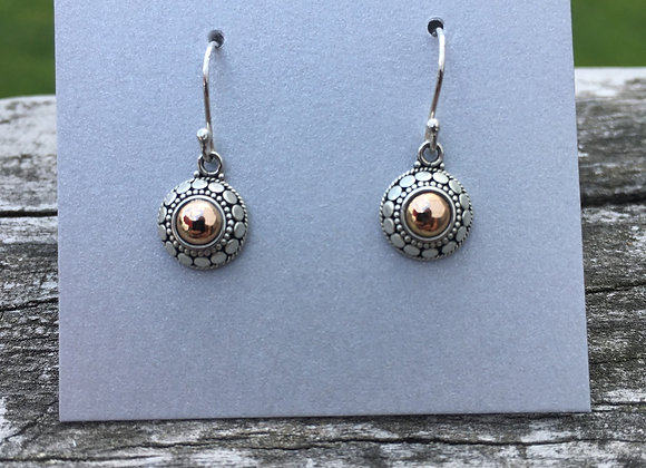 Dots gold and silver earrings