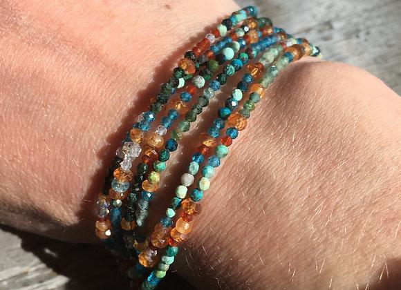 GenVie designs multi stone wrap bracelet