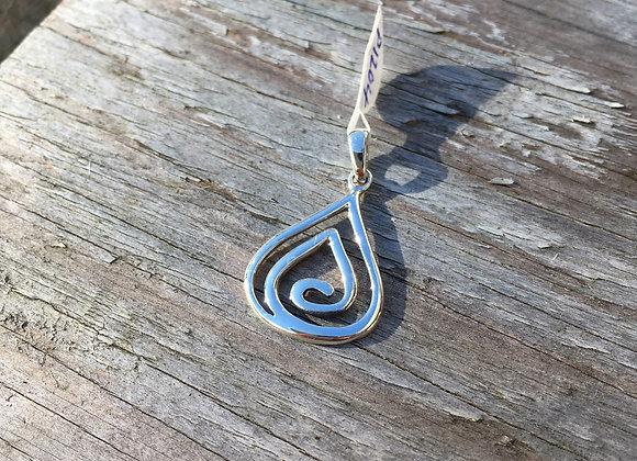 Teardrop spiral of life pendant