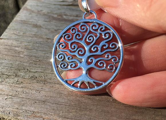 Spiral tree of life pendant