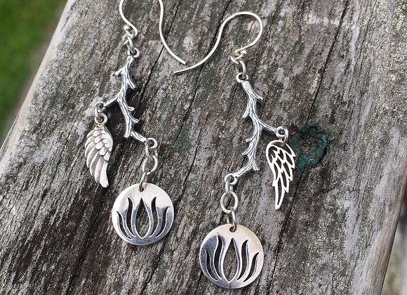 GenVie designs unfold earrings