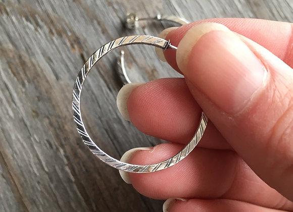 Mikel Grant pinstripe hoops