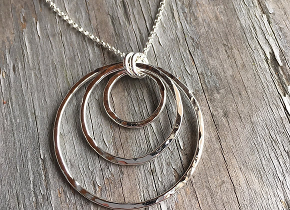 Mikel Grant triple nesting circles necklace