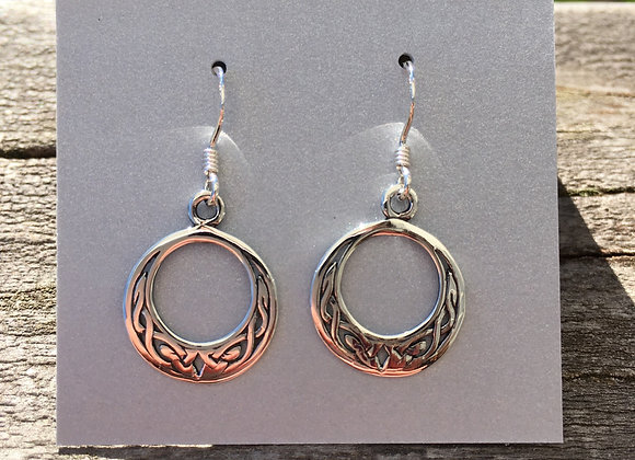 Small crescent Celtic knot earrings
