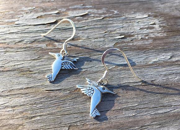 Hummingbird dangle earrings