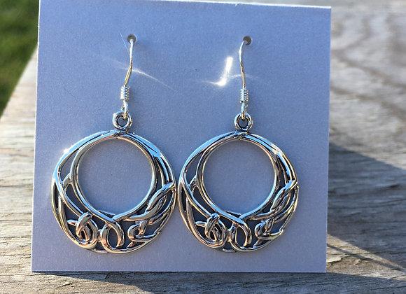 Celtic crescent earrings