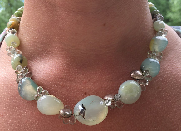 GenVie designs Peruvian opal necklace