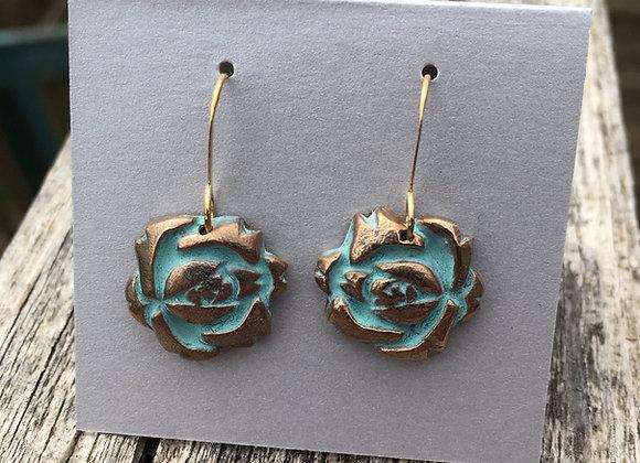 Alasha bronze rose earrings
