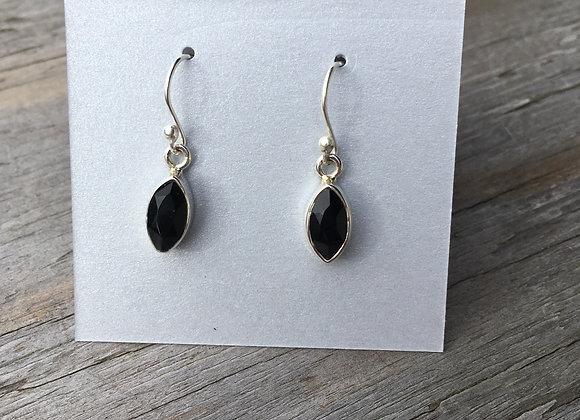 Black onyx little marquis earrings