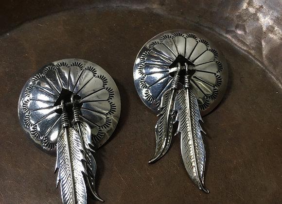 Vintage Navajo feather earrings