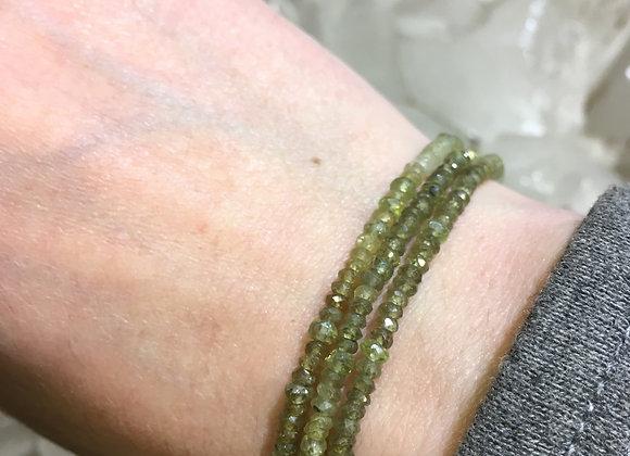 GenVie designs green garnet bracelet