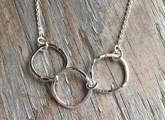 Mikel Grant soft square trio necklace