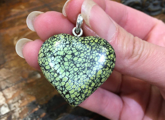 Green turquoise heart