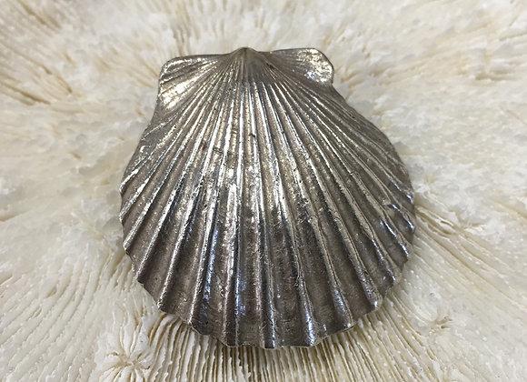 Waters Edge Silver scallop shell pendant