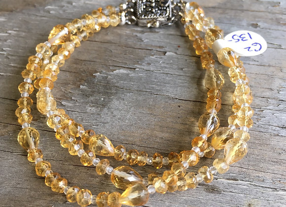 GenVie designs three strand citrine bracelet