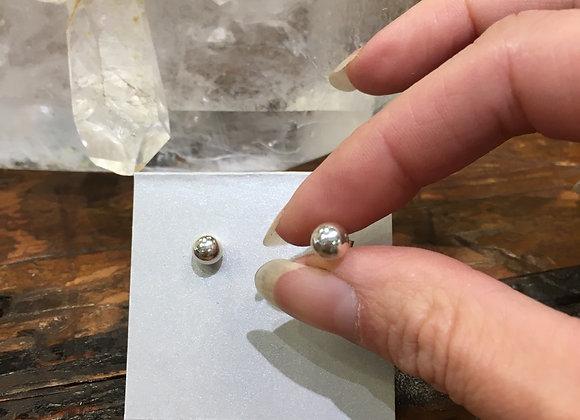 6mm silver ball studs