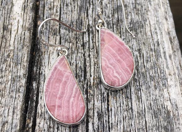 Rhodochrosite wing earrings
